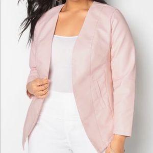 Avenue pink faux leather jacket